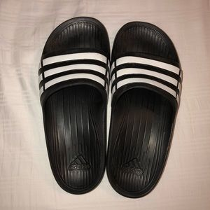 Adidas slip on sandals